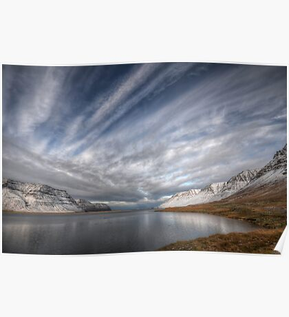 Crossed Clouds in Western Iceland Poster