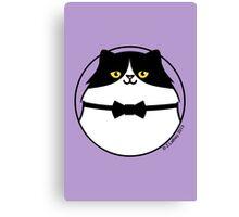 Sophisticated Black & White Cat Canvas Print