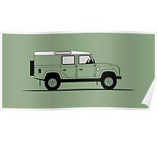 Land Rover Defender 110 Utility Station Wagon Heritage Edition Poster