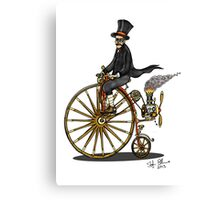 STEAMPUNK PENNY FARTHING BICYCLE (white) Canvas Print
