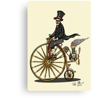 STEAMPUNK PENNY FARTHING BICYCLE (yellow) Canvas Print