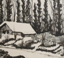 WHISPERING WINTER - Cabin in the Back Country Sticker