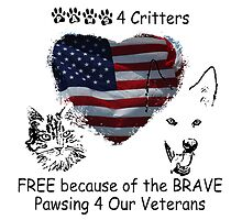 Paws4Critters Pawsing for Our Veterans by paws4critters