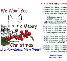Paws4Critters Woof You a Meowy Christmas by paws4critters