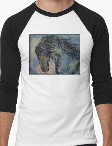 Friesian Stallion Men's Baseball ¾ T-Shirt