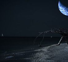 On The Beach - Earthlight by AlienVisitor