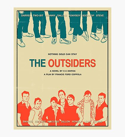 The Outsiders - Beige Photographic Print
