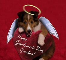 Grandparents Day Grandma Angel Sheltie by jkartlife