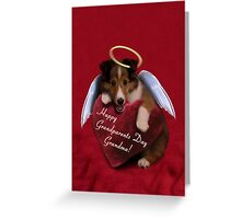 Grandparents Day Grandma Angel Sheltie Greeting Card