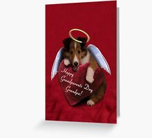 Grandparents Day Grandpa Angel Sheltie Greeting Card
