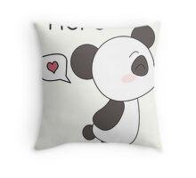 """His & Hers"" Panda (Couple Case) Boy Version [B&W] Throw Pillow"