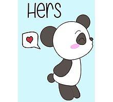 """His & Hers"" Panda (Couple Case) Boy Version [Color] Photographic Print"