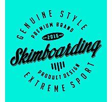 Skimboarding Extreme Sport Black Art Photographic Print