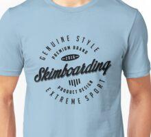 Skimboarding Extreme Sport Black Art Unisex T-Shirt
