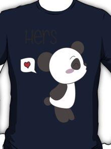 """His & Hers"" Panda (Couple Shirts) Boy Version T-Shirt"