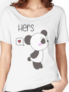 """His & Hers"" Panda (Couple Shirts) Boy Version Women's Relaxed Fit T-Shirt"