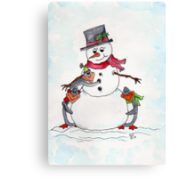Snow friends  Canvas Print