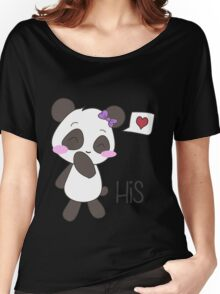 """His & Hers"" Panda (Couple Shirts) Girl Version Women's Relaxed Fit T-Shirt"