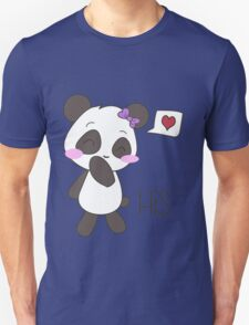 """His & Hers"" Panda (Couple Shirts) Girl Version Unisex T-Shirt"