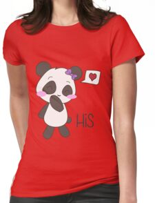 """His & Hers"" Panda (Couple Shirts) Girl Version Womens Fitted T-Shirt"