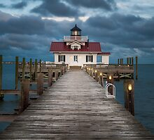 Roanoke Marsh Lighthouse, Outer Banks by Dustin Ahrens