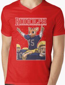 Rudolph Mens V-Neck T-Shirt