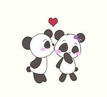 Panda Love!  by charsheee