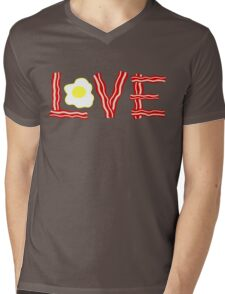 Love Bacon and Eggs Mens V-Neck T-Shirt