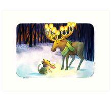Forest Chandelier - 2013 Holiday Card Art Print