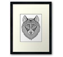 Ornate Wolf Framed Print