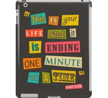 Fight Club Quote 2 iPad Case/Skin