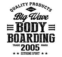 Bodyboarding Extreme Sport Black Art Photographic Print