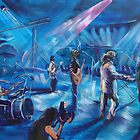 Mental as Anything painted live at the Airlie Beach Music Festival by robert (bob) gammage