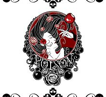 Poison - Black Rose on White by Samantha Johnson