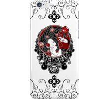 Poison - Black Rose on White iPhone Case/Skin