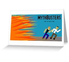 MythBusters Minimalized Greeting Card