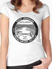 Vintage retro Iver Johnson Truss Bridge bicycle ad Women's Fitted Scoop T-Shirt