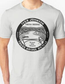 Vintage retro Iver Johnson Truss Bridge bicycle ad T-Shirt