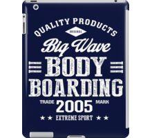 Bodyboarding Extreme Sport White Art iPad Case/Skin
