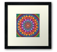 Lotus Rainbow Mandala Framed Print