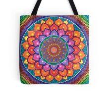 Lotus Rainbow Mandala Tote Bag