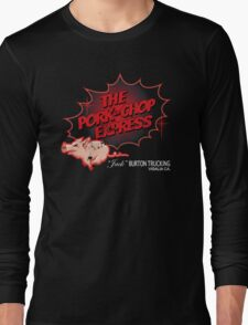 Big Trouble in Little China - Pork Chop Express Distressed Thick Red Fade Variant Long Sleeve T-Shirt