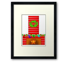 Fireplace at Christmas Framed Print