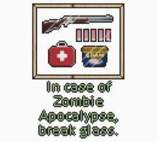 In case of zombie apocalypse break glass One Piece - Short Sleeve