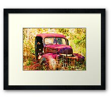 Rusty Ford Truck Framed Print