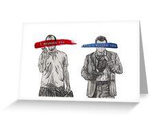 Trevor & Michael Greeting Card