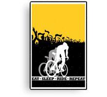 Eat Sleep Ride Repeat Canvas Print