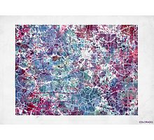 colorado map cold colors Photographic Print