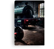 Shed & Locomotive Canvas Print