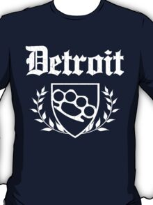 Detroit Knuckle Crest (Vintage Distressed Design) T-Shirt